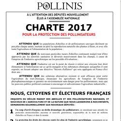 Charte 2017 pour la protection des pollinisateurs