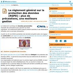 Le règlement général sur la protection des données (RGPD) : plus de précautions, une meilleure gestion - DANE de Poitiers
