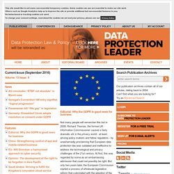 the newsletter for data protection professionals