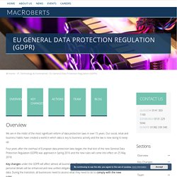 EU General Data Protection Regulation (GDPR) - MacRoberts LLP