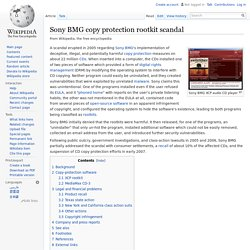 Sony BMG copy protection rootkit scandal