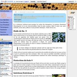 Protection des ruches à l'huile de lin