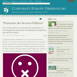 """Protection des Secrets d'Affaires"""