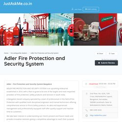 Adler Fire Protection and Security System - JustAskMe