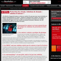Protection des ebooks. Solutions de demain : solution d'auteurs ?