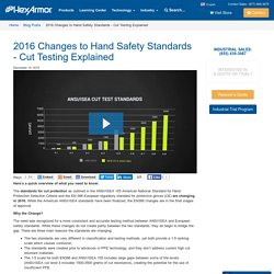 Changes to Cut Protection Standards for Hand PPE