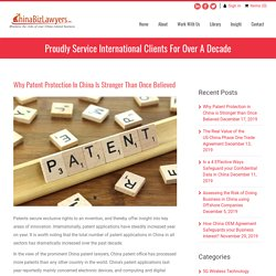 Why Patent Protection in China is Stronger than Once Believed