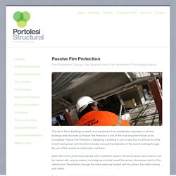 Passive Fire Protection Services for Construction