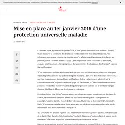 La Protection Universelle MAladie
