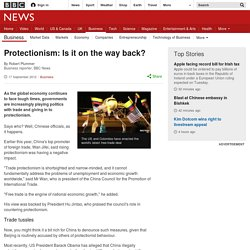 Protectionism: Is it on the way back?