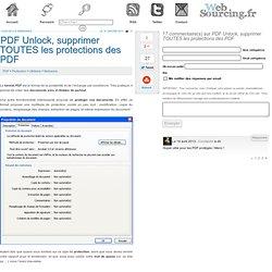 PDF Unlock, supprimer TOUTES les protections des PDF