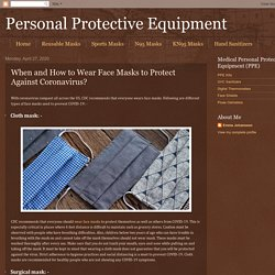 Personal Protective Equipment: When and How to Wear Face Masks to Protect Against Coronavirus?