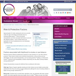 Risk & Protective Factors - The Office of Adolescent Health
