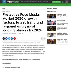 Protective Face Masks Market 2020 growth factors, latest trend and regional analysis of leading players by 2026