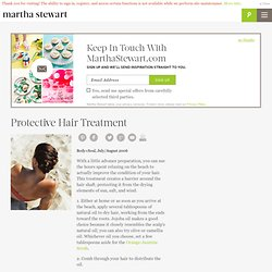 Protective Hair Treatment - Martha Stewart Hair care