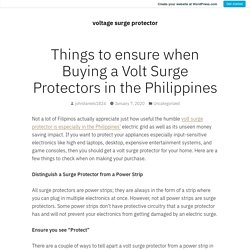 Things to ensure when Buying a Volt Surge Protectors in the Philippines – voltage surge protector