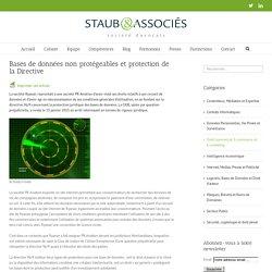 Bases de données non protégeables et protection de la Directive