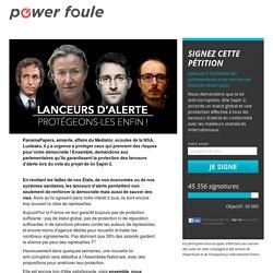 PROTÉGEONS NOS LANCEURS D'ALERTE !