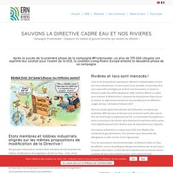 """Campagne """"Protegeons l'eau"""" (# ProtectWater) – European Rivers Network"""