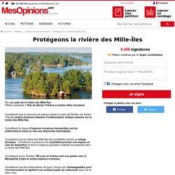 Protégeons la rivière des Mille-Îles