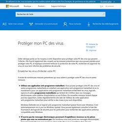 Protéger mon PC des virus