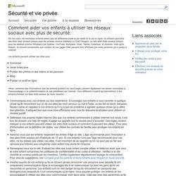 Protéger les enfants en ligne – Protection Microsoft
