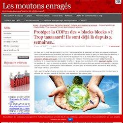 Protéger la COP21 des «blacks blocks»? Trop taaaaaard! Ils sont déjà là depuis 3 semaines…