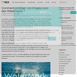 Protégez vos photos ! Comment créer des Watermarks -Wix