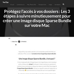 Protégez l'accès à vos dossiers : Les 3 étapes à suivre minutieusement pour créer une image disque Sparse Bundle sur votre Mac