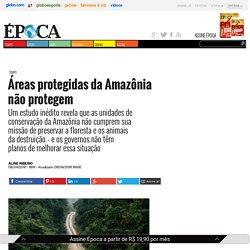 Áreas protegidas da Amazônia não protegem