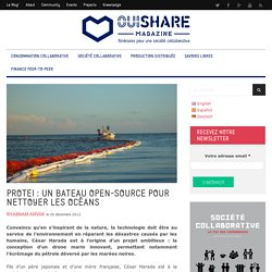 Protéi, le bateau open-source pour nettoyer les océans