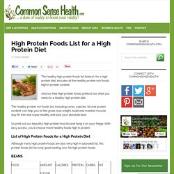 High Protein Foods List for a High Protein Diet