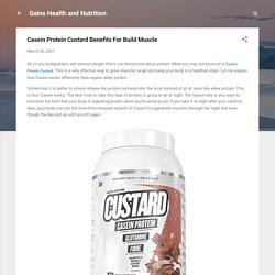 Casein Protein Custard Benefits For Build Muscle
