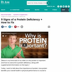 9 Signs of Protein Deficiency + Best Sources of Protein