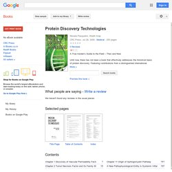 Online Julio Licinio Protein Discovery Technologies