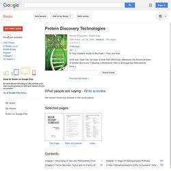 Online Julio Licinio Protein Discovery Technologies