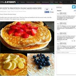 Fuzzy's Protein Pancakes Recipe