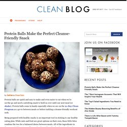 Protein Balls Make the Perfect Cleanse-Friendly Snack