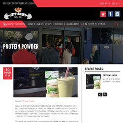PROTEIN POWDER - Supplement Lounge