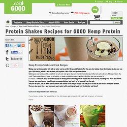 Hemp Protein Shakes Recipes - GOOD Hemp Nutrition