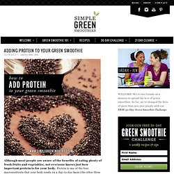 Adding protein to your green smoothie