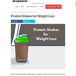 Protein Shakes for Weight Loss - Dr. Spencer Nadolsky