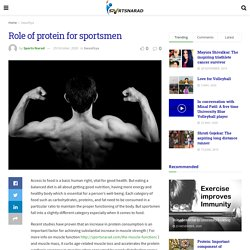Role of protein for sportsmen