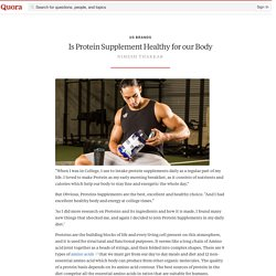 Is Protein Supplement Healthy for our Body - Us Brands - Quora