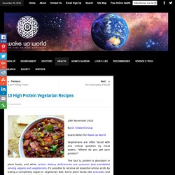 10 High Protein Vegetarian Recipes