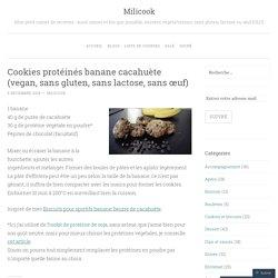 Cookies protéinés banane cacahuète (vegan, sans gluten, sans lactose, sans œuf)