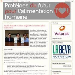Protéines du futur: Quatre étudiants caennais imaginent et créent des pâtes aux insectes