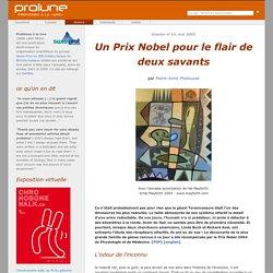 """Protéines à la Une : """"Un Prix Nobel pour le flair de deux savants"""" par Marie-Anne Phelouzat"""