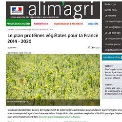 Le plan protéines végétales pour la France 2014 - 2020