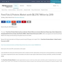 Feed Fats & Proteins Market worth $8,379.7 Million by 2019